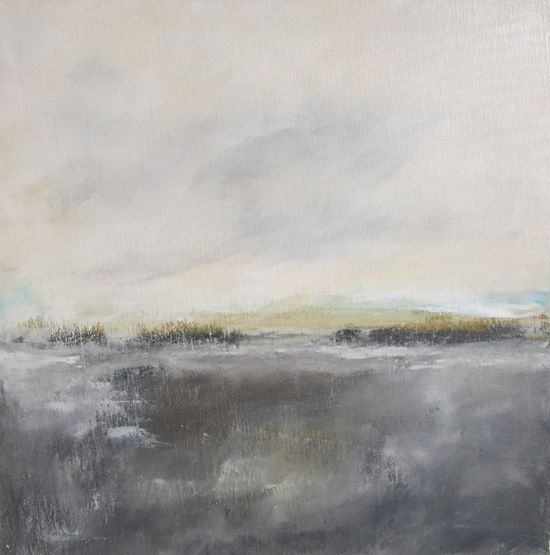 Abstract Landscape Original Painting on Canvas- Grey Bronze Landscape 20 x 20. $265.00, via Etsy. @Stacy Stone Stone Stein
