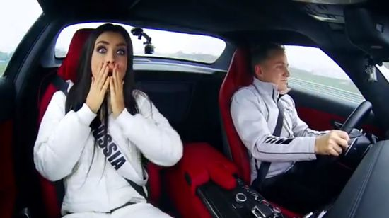 OMG! Miss Universe Beauties Go Full Throttle In A Mercedes SLS AMG. Hit the pic to see the funny video!