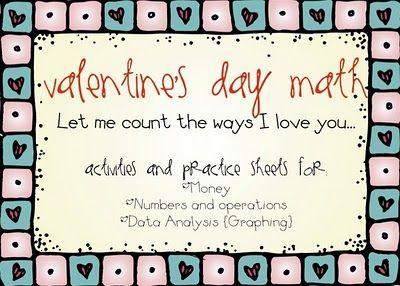 Fun Valentine theme Math activities
