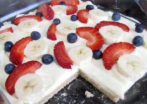 HEALTHY fruit pizza!