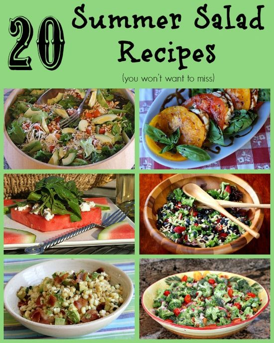 20 Summer Salad Recipes You Won't Want to Miss #summer #salads #recipes