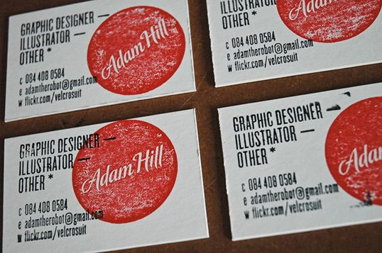 love love love stamped business cards