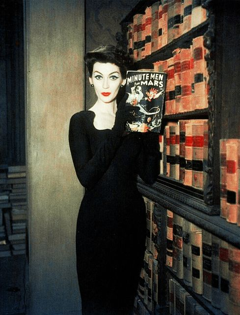 Dovima in a promotional photo for Funny Face, 1957.