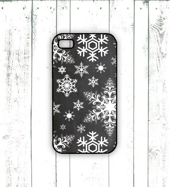 #Snowflake iPhone Case  Winter iPhone Case on by MooseberryCases