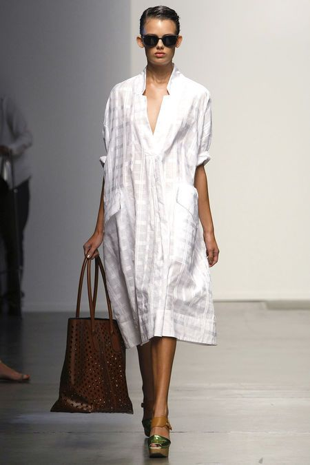 Rachel Comey SS13 white windowpane kaftan, yes please