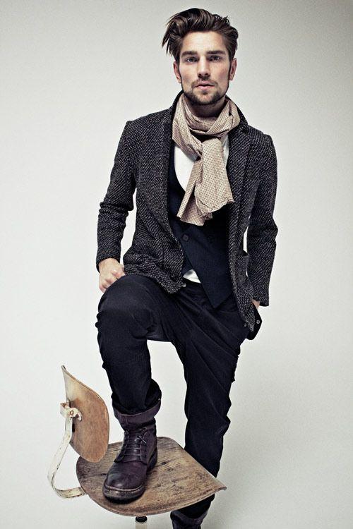 tweed jacket + scarf