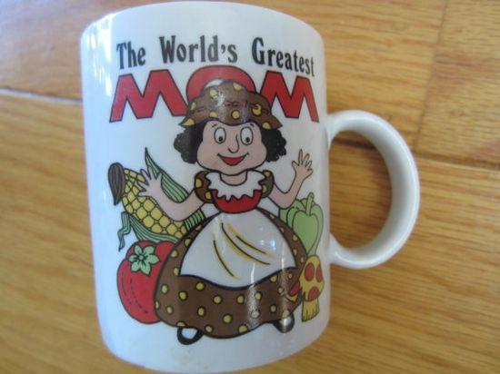 Vintage The World's Greatest MOM Mug Japan by kookykitsch on Etsy, $8.00