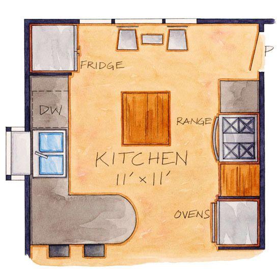 Small & Sunny Kitchen  Floor Plan