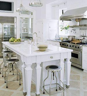 Love all white kitchens.