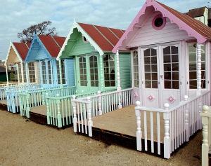 West Mersea, UK beach huts