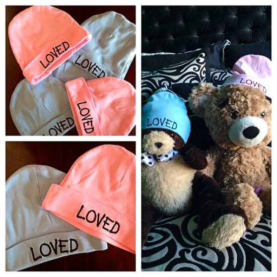 LOVED BABY BEANIE by LOVEWILDTHEMISSION on Etsy, $18.00