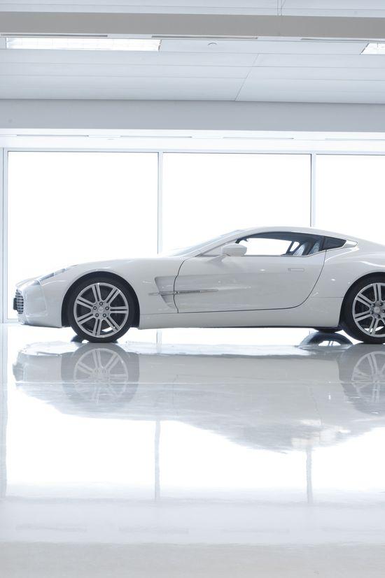 White Aston One 77