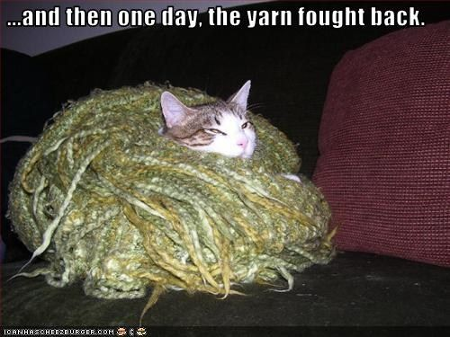 ...and then one day, the yarn fought back.