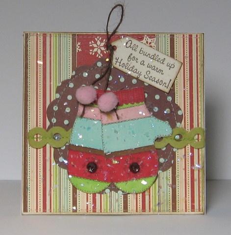 mitten Christmas card