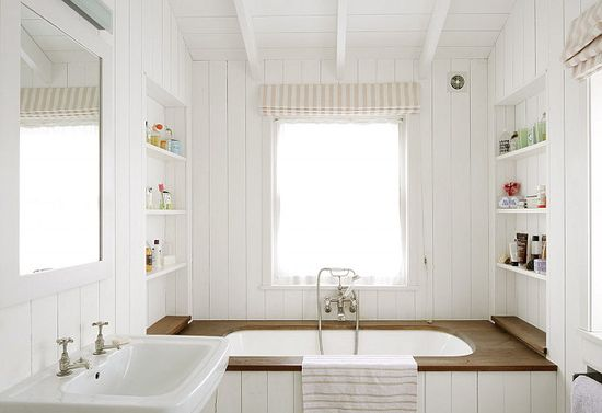 Cottage bathroom.