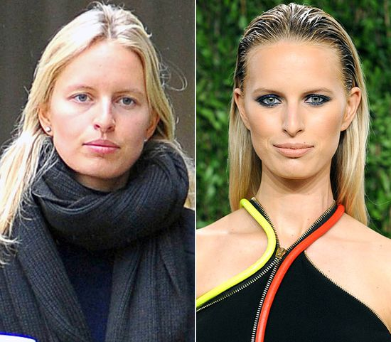 Karolina Kurkova LEFT: strolling through New York City on Feb. 5, 2013 RIGHT: attending Vanity Fair's Oscar party in West Hollywood on Feb. 24, 2013 Read more: www.usmagazine.co... Follow us: @Us Weekly on Twitter
