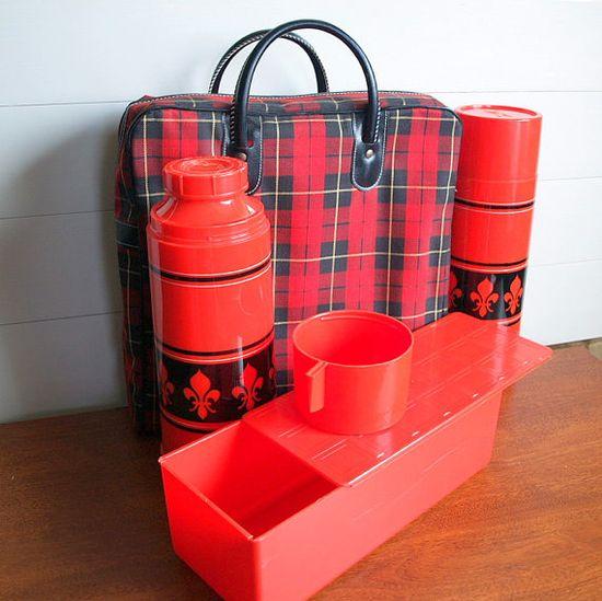 retro vintage picnic set on etsy