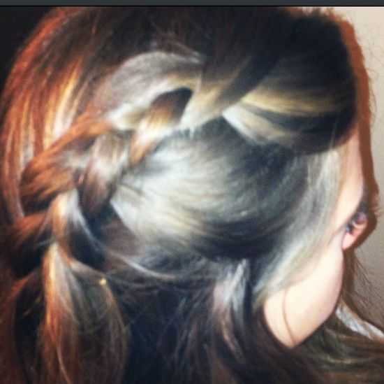 Messy inside out French braid