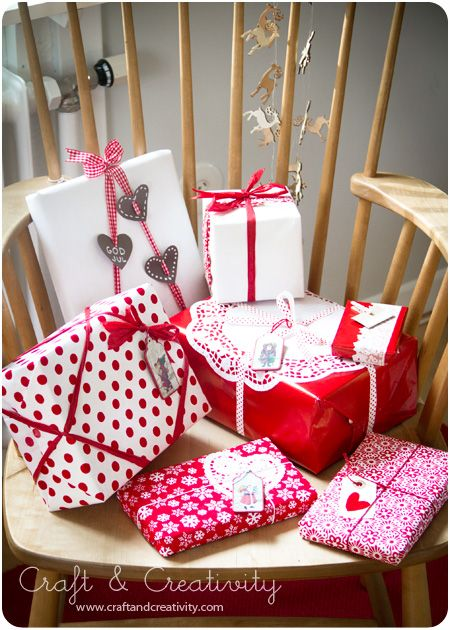 Christmas gift wrapping ideas - from Craft  Creativity