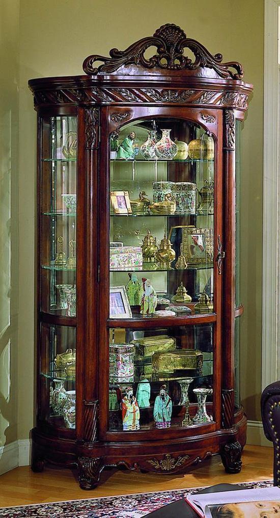 Curio traditional elegant antique furniture dining display