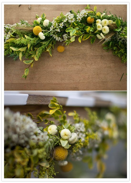 DIY floral garland (via @100layercake)