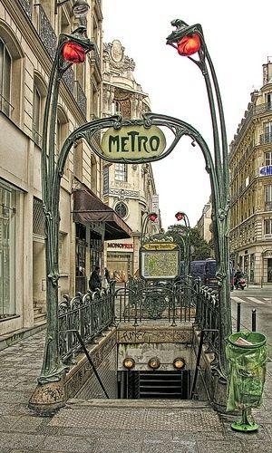 Metro entrance, Paris.