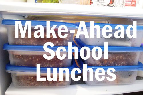 make-ahead school lunches. I'm hoping to do more the night before this year...