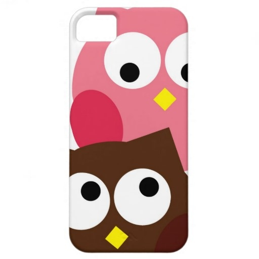 Cute Pink and Brown Owls iPhone Case