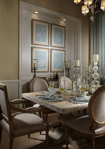 Lovely, High-End Dining Room