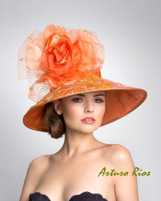 Couture Derby hat lampshade Hat by ArturoRios on Etsy, $230.00