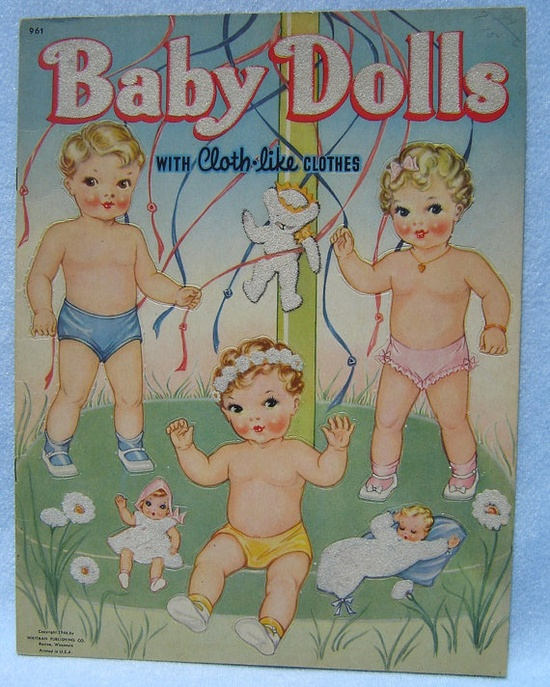 Baby Doll paper dolls 1946