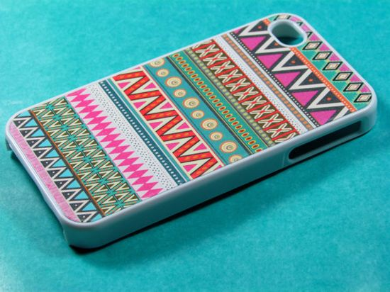 Pink Aztec Iphone 4 Case Iphone Case Iphone 4s Case by DzinerCases, $15.99