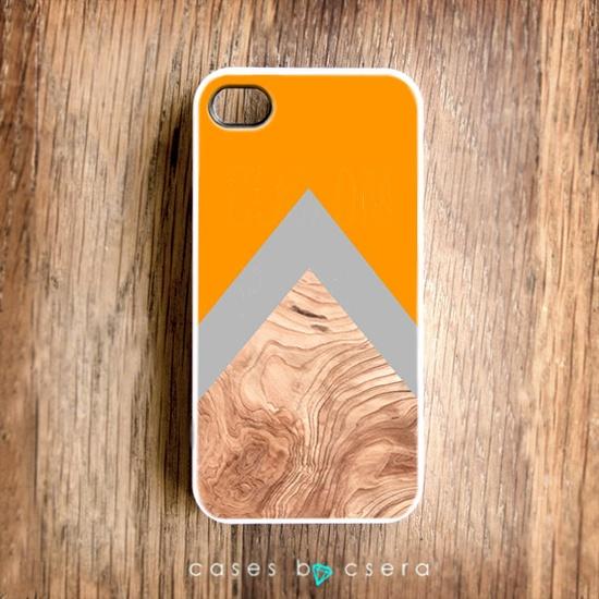 Halloween Pumpkin Unique iPhone Case, iPhone 4 Case, Snap on Cell Phone Case Floral Case, Abstract Case Geometric Orange Arrow Autumn Colors. $17.99, via Etsy.