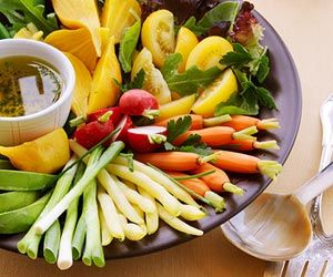 Summer veggies and herb dressing