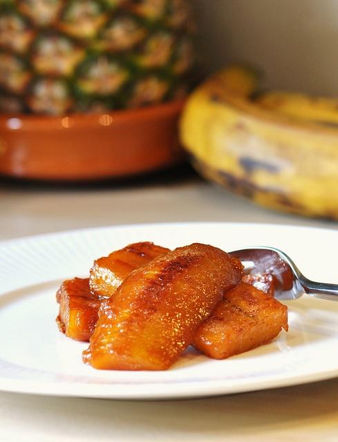 Caramelised plantains
