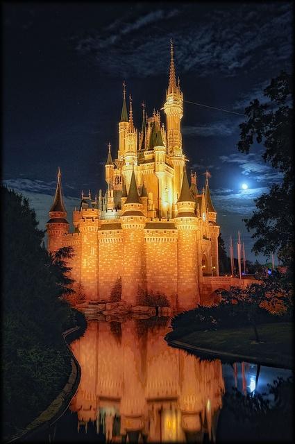 Orange Cinderella Castle by Uncle_Greg, via Flickr