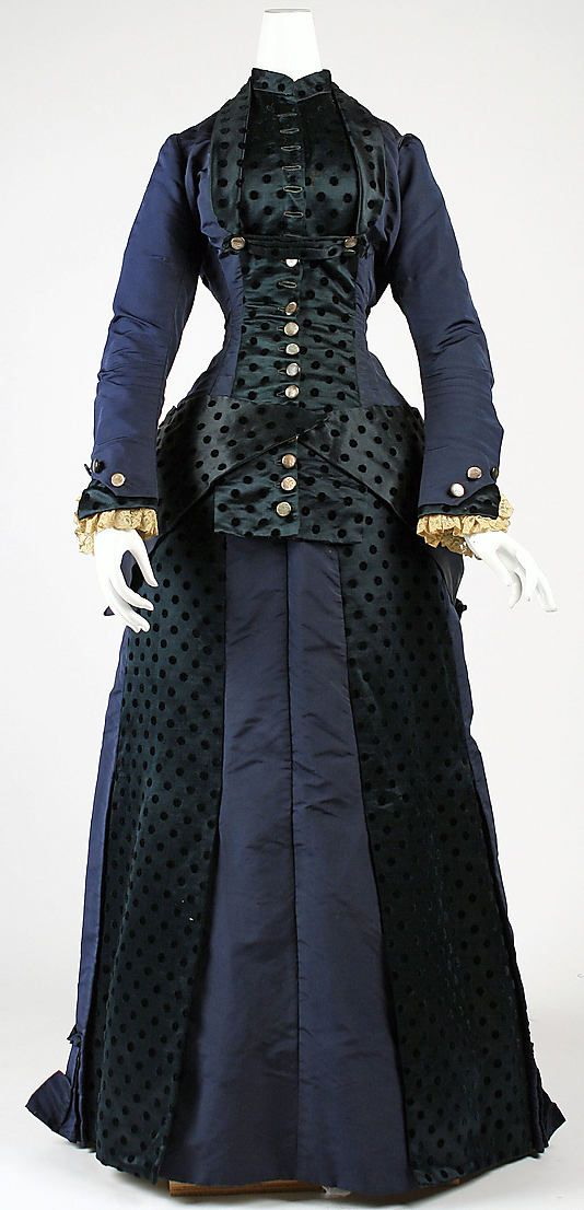 American silk dress 1880
