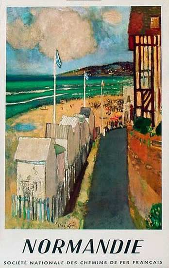 DP Vintage Posters - France Original Vintage Travel Poster Normandie
