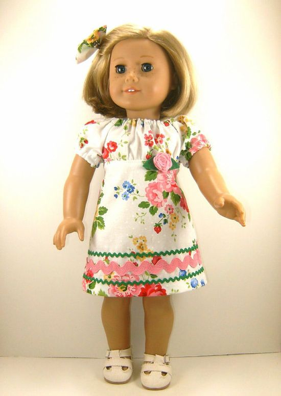 American Girl Doll Clothes Pretty Roses Retro von dressurdolly2, $17,00