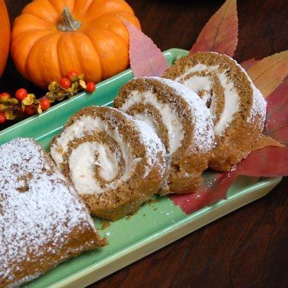 Pumpkin Spiral Cake