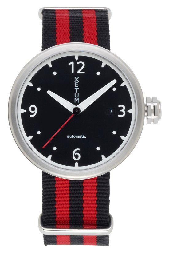 Xetum Kendrick men's watch on NATO strap -  #watches #fashion #design #modern #menswear #horology #Swiss watch #mens style #mens watch #Automatic Watch #wrist watches #modern design