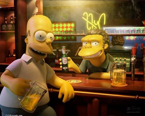 Homer in 3D by Victor Hugo