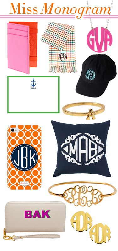 Monogram, monogram and more monogram.....love it