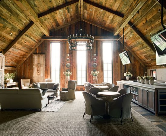 Multi-Use Design-this is just gorgeous right down to the rustic ceiling!