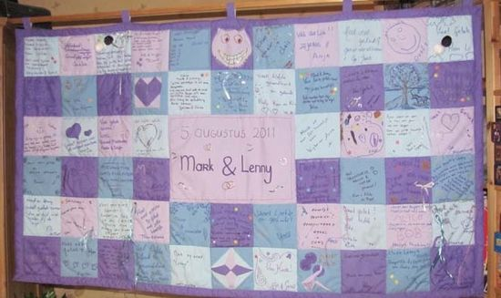 A guestbook you can cuddle with: How to make a wedding quilt guestbook