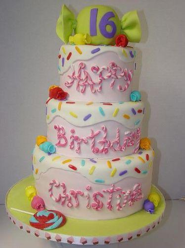 Sweet 16 Candy Cake