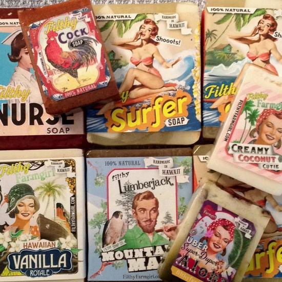 All natural handmade soaps from Hawaii, www.filthyfarmgir...