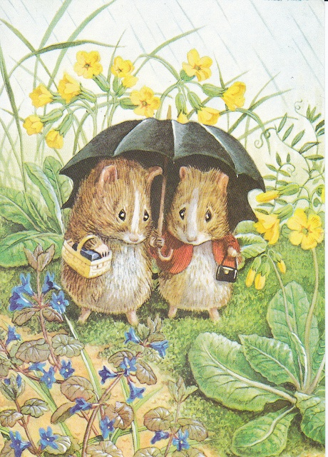 Mice under an umbrella