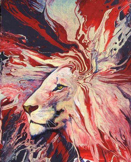 Amazing lion art