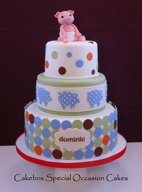 Piggy Baby Shower Cake